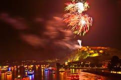 Rhein dans Flammen Photo libre de droits