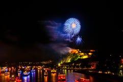 Rhein dans Flammen Photographie stock