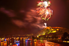 Rhein em Flammen Foto de Stock Royalty Free
