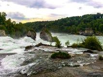 Rhein faller Schweiz royaltyfri foto