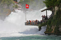 The Rhein Falls near Schaffhausen in Switzerland Royalty Free Stock Images