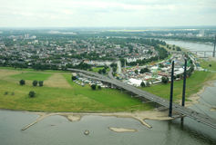 Rhein-Fluss in Dusseldorf Lizenzfreie Stockfotos