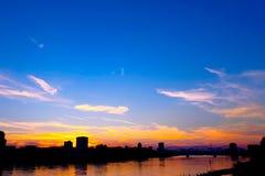 AM Rhein im Mannheim - Allemand Image stock