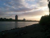 Rhein kust Arkivfoton