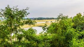 Rhein-Landschaft Arnhem die Niederlande Lizenzfreies Stockfoto