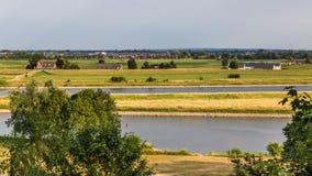 Rhein-Landschaft Arnhem die Niederlande Lizenzfreies Stockbild