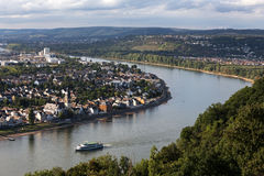 Rhein river in koblenz germany Stock Photo