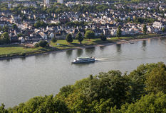 Rhein river in koblenz germany Royalty Free Stock Photo