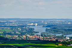 Rhein river, Ruedesheim, Rheinland-Pfalz, Germany Royalty Free Stock Photography