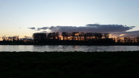 Rhein river sunset Royalty Free Stock Image