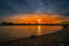 Rhein rzeka obrazy royalty free