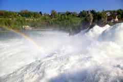 Известный Rhein падает (Schaffhausen, Швейцария) Стоковое Изображение RF