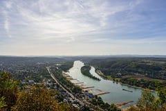 Rhein sikt från berget royaltyfri bild
