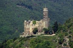 Rhein-Tal-Schloss Stockbilder