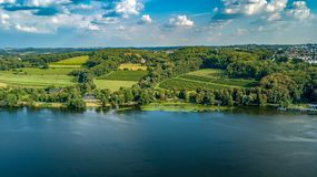 Rhein view from above germany royalty free stock images
