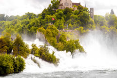 Rhein waterfall in Switzerland Stock Image