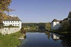 Rheinau Riverscape Imagen de archivo libre de regalías