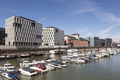 Rheinauhafen à Cologne, Allemagne Photographie stock