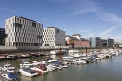 Rheinauhafen in Keulen, Duitsland Stock Fotografie