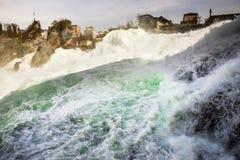 瀑布Rheinfall在瑞士 免版税图库摄影