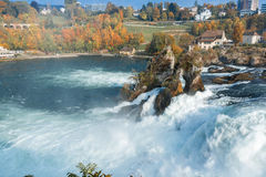 Rheinfall - the biggest waterfall in Europe. Stock Images
