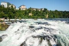Rheinfall - de grootste waterval in Europa royalty-vrije stock afbeeldingen