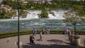 Rheinfall, de Waterval van Zwitserland als Tijdtijdspanne stock footage