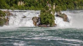 Rheinfall, de Waterval van Zwitserland als Tijdtijdspanne stock video