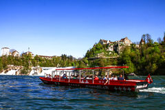 Rheinfall observation boat 1 Stock Photo