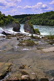 rheinfall switzerland Royaltyfri Foto