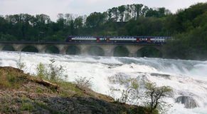 Rheinfall, Switzerland. Overview of the Rhinefall, the largest Waterfall in Europe Stock Images