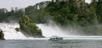 Rheinfall, Switzerland. Rheinfall, Waterfall of the river Rhein at Schaffhausen, Switzerland Royalty Free Stock Photography