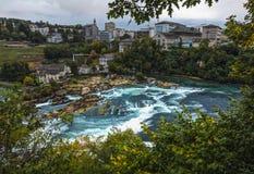 Rheinfall in switzerland stock photography