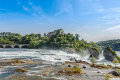 Rheinfall, Waterfall of the river Rhein at Neuhausen, Schaffhaus Stock Photo