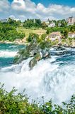 Rheinfall, Waterfall of the river Rhein Royalty Free Stock Photo