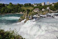 Rheinfall, Waterval van de rivier Rijn Stock Foto