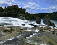 Rheinfall Zwitserland. Royalty-vrije Stock Fotografie