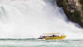 RHEINFALLS,瑞士- 2015年7月25日:对最大的wat的看法 库存照片