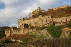Rheinfels castle, Germany. Autumn evening on the ruins of Rheinfels castle, Germany Stock Photos