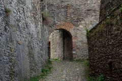 Path to the ruin castle Rheinfels Royalty Free Stock Photo
