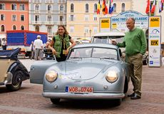 Rheinheimers and Porsche stock photo
