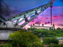 Rheinland-Sonnenuntergang in Würzburg Stockfoto