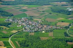 Rheinmuenster Moos, aerial Stock Photo