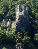 Rheinstein Castel on the Rhine Royalty Free Stock Image