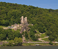 Rheinstein castle in famous rhine valley Stock Image
