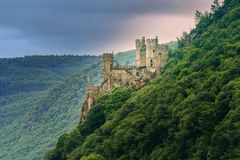 The Rheinstein Castle in Germany Stock Images