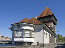 Rheintor Gate tower in Constance at Lake Constance Stock Images