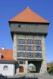 Rheintor porttorn i Constance på sjön Constance Arkivbild