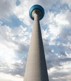 Rheinturm, Düsseldorf, Germany. The Rheinturm in Düsseldorf, Germany. Also called the tower of the Rhein stock photography