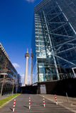 Rheinturm Dusseldorf Royalty Free Stock Images